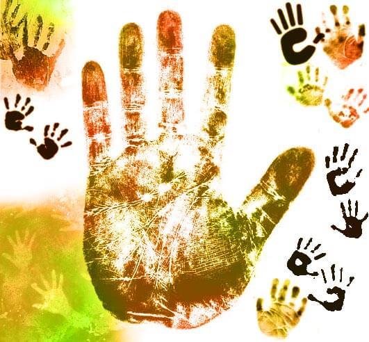 手掌印、手印、掌纹图案PS笔刷素材下载