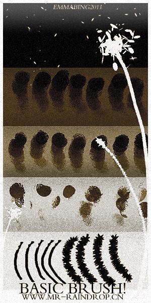 10款基本型绘画笔刷PS素材下载 绘画笔刷  photoshop brush