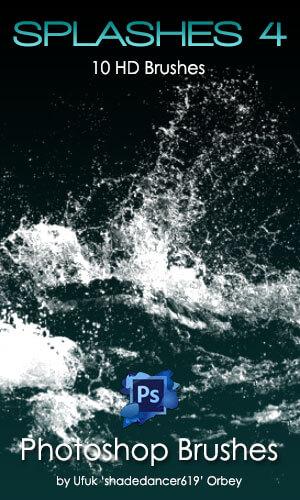 10种高清水花、水面荡漾、涟漪效果PS水纹理笔刷