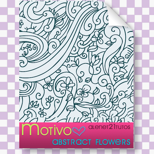 抽象派艺术植物花纹图案Photoshop复杂印花填充素材下载 艺术花纹笔刷 植物花纹笔刷 印花笔刷 PS填充素材  flowers brushes