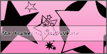 可爱卡哇伊星星、五角星装扮PS笔刷素材下载