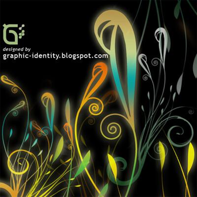 植物艺术花纹花卉图案PS笔刷素材下载