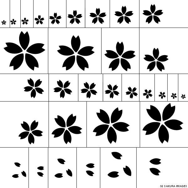 漂亮的日本樱花图案PS笔刷素材下载