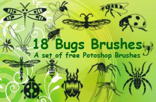 昆虫蜻蜓、苍蝇、甲虫、蚊子、蝎子、蜘蛛、蜜蜂Photoshop笔刷素材下载 蜻蜓笔刷 蜘蛛笔刷 蚊子笔刷 苍蝇笔刷 甲虫笔刷  insects brushes