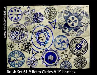 漂亮的手绘涂鸦艺术花纹图案PS笔刷素材下载
