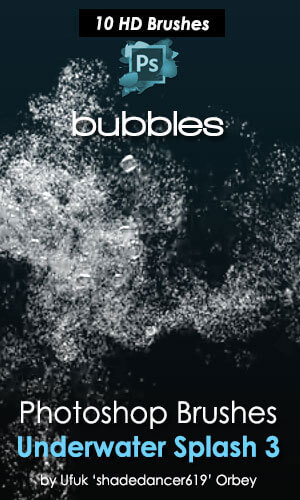 10种水中气泡、水下泡沫效果PS水笔刷素材 泡泡笔刷 泡沫笔刷 水泡笔刷 气泡笔刷  water brushes