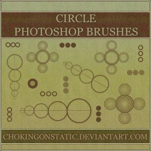 圆圈组合形状PS笔刷素材下载