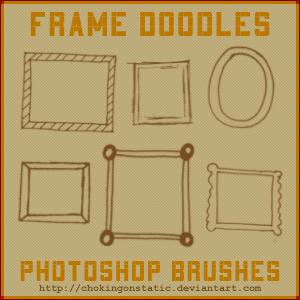 可爱手绘涂鸦方框、相框、镜框Photoshop童趣笔刷