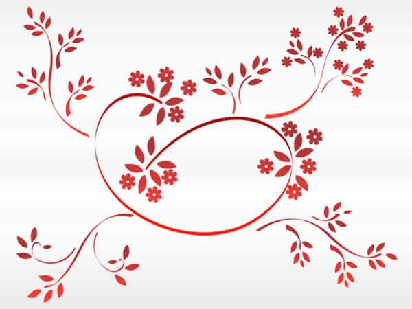 漂亮的植物艺术花纹图案Photoshop笔刷素材下载