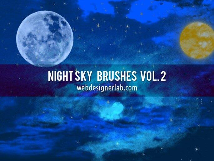 万圣节元素夜晚星空下的氛围PS笔刷下载