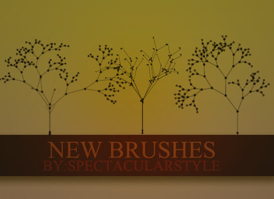 漂亮的植物枝条花纹艺术PS笔刷素材下载 植物花纹笔刷 植物艺术花纹笔刷 枝条花纹笔刷  flowers brushes