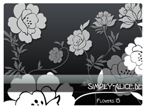 漂亮的鲜花、花朵图案、印花花纹PS笔刷素材下载 鲜花花纹笔刷 花朵笔刷 印花笔刷  flowers brushes