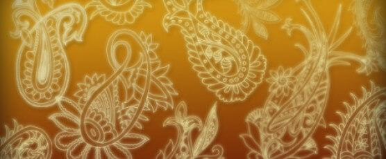 12种精美的手绘佩斯利花纹ps笔刷素材