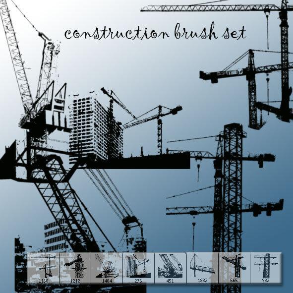 城市建设塔吊PS工程建筑笔刷 工地笔刷 塔吊笔刷  %e5%bb%ba%e7%ad%91%e7%ac%94%e5%88%b7