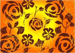 绽放的玫瑰花效果Photoshop印花图案笔刷