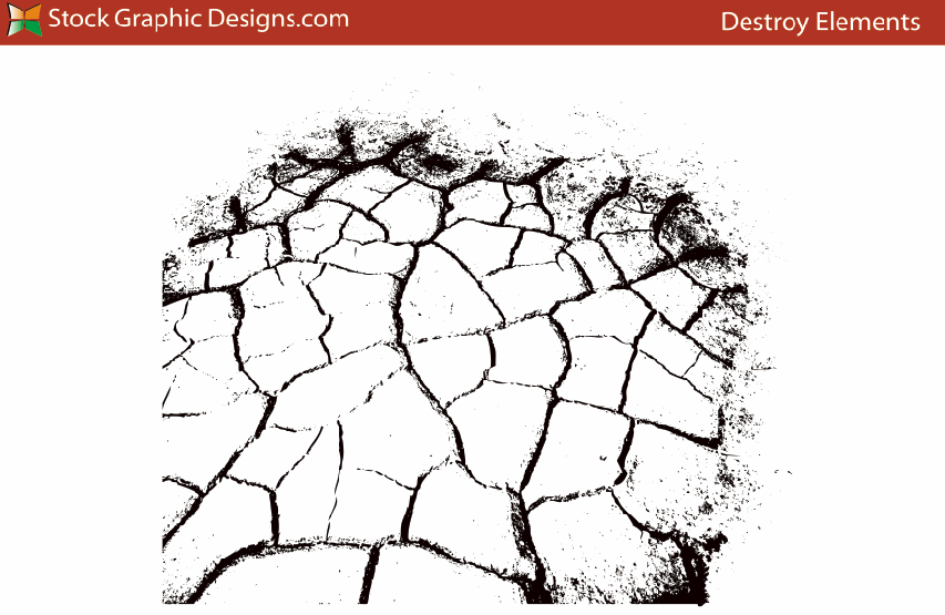 土地、田地地面龟裂、干涸开裂纹理PS笔刷素材下载