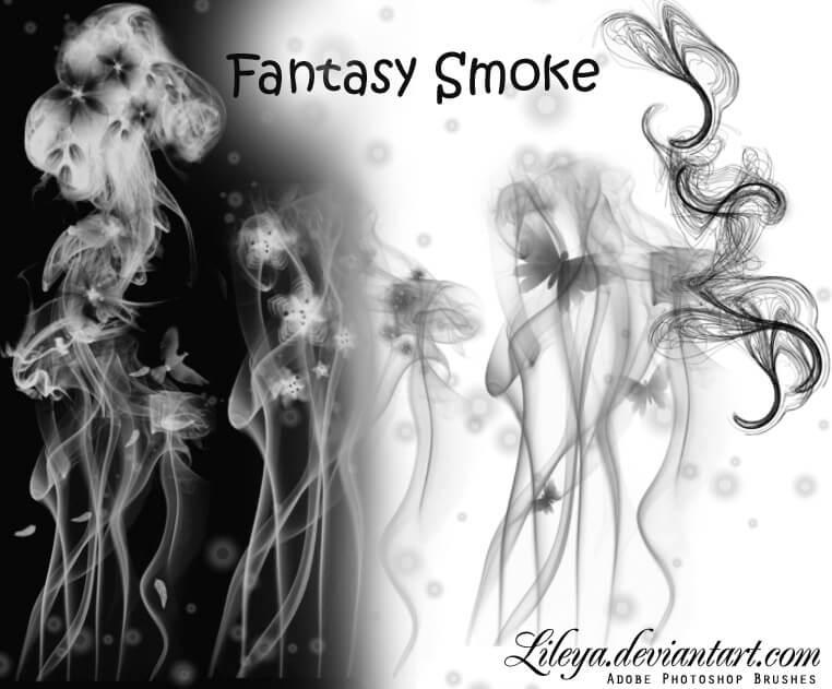 另类幻想烟雾图案PS笔刷素材