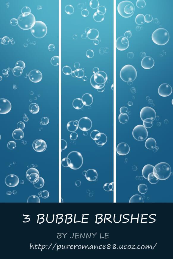 泡泡、气泡、水泡沫Photoshop笔刷素材下载