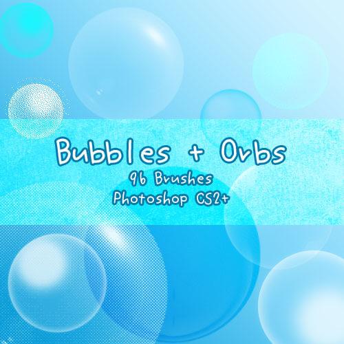 半透明泡泡、气泡、水泡等PS笔刷素材下载 泡泡笔刷 水泡笔刷 气泡笔刷  water brushes
