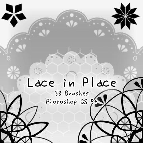 简单漂亮的花边装饰图案、印花效果PS笔刷素材 花边笔刷 印花笔刷  adornment brushes flowers brushes