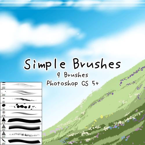9种插画艺术手绘笔刷Photoshop素材下载 艺术绘画笔刷 插画笔刷 手绘笔刷 CG笔刷  photoshop brush