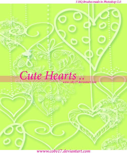 花式爱心花纹图案PS情人节心形装饰笔刷