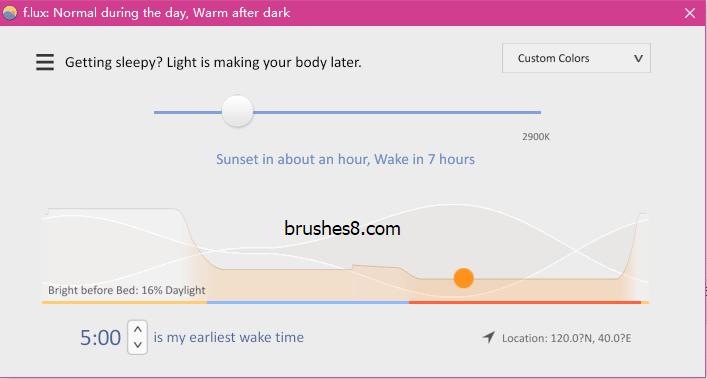 F.lux 保护你的眼睛!自动调整屏幕亮度与色温,类似苹果手机的Night Shift 模式
