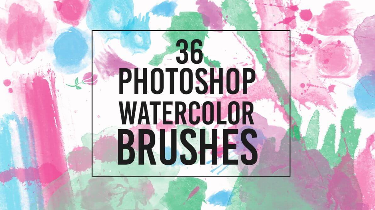 36种水彩、水墨高级颜料画笔PS笔刷素材