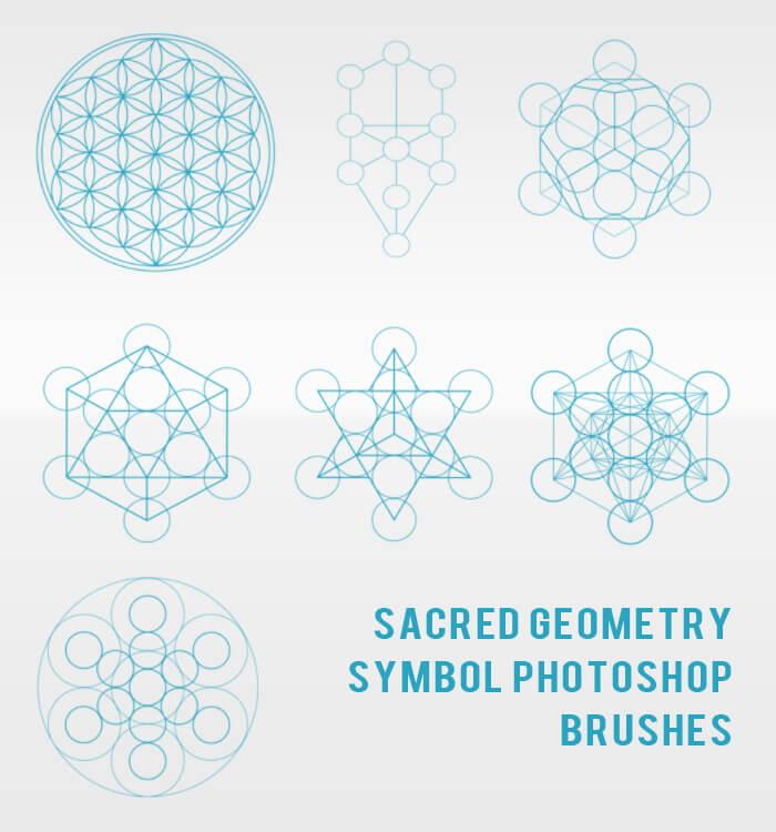 神圣的几何图形组合形状PS笔刷素材下载 几何图形笔刷  adornment brushes