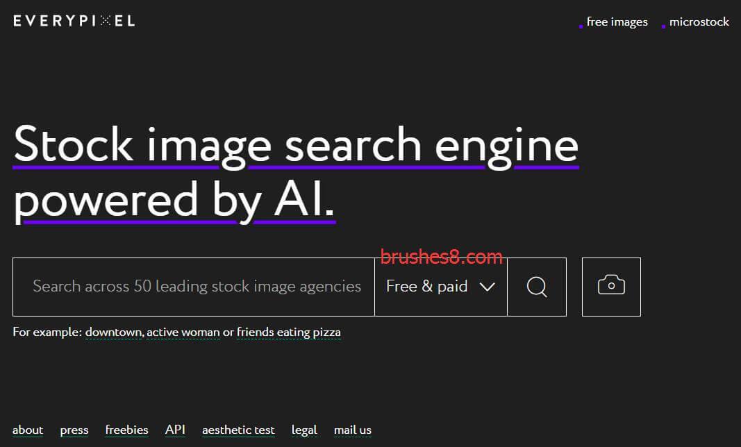 Everypixel:集合50个图库的一站式搜索引擎,还能以图搜图,评测照片颜值等功能