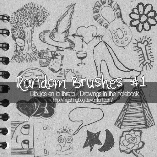 萌童涂鸦PS可爱的手绘图形元素笔刷