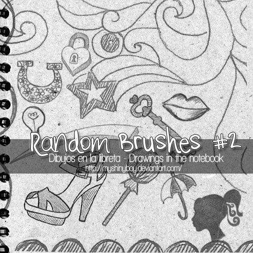 魔法少女元素PS童趣手绘涂鸦笔刷