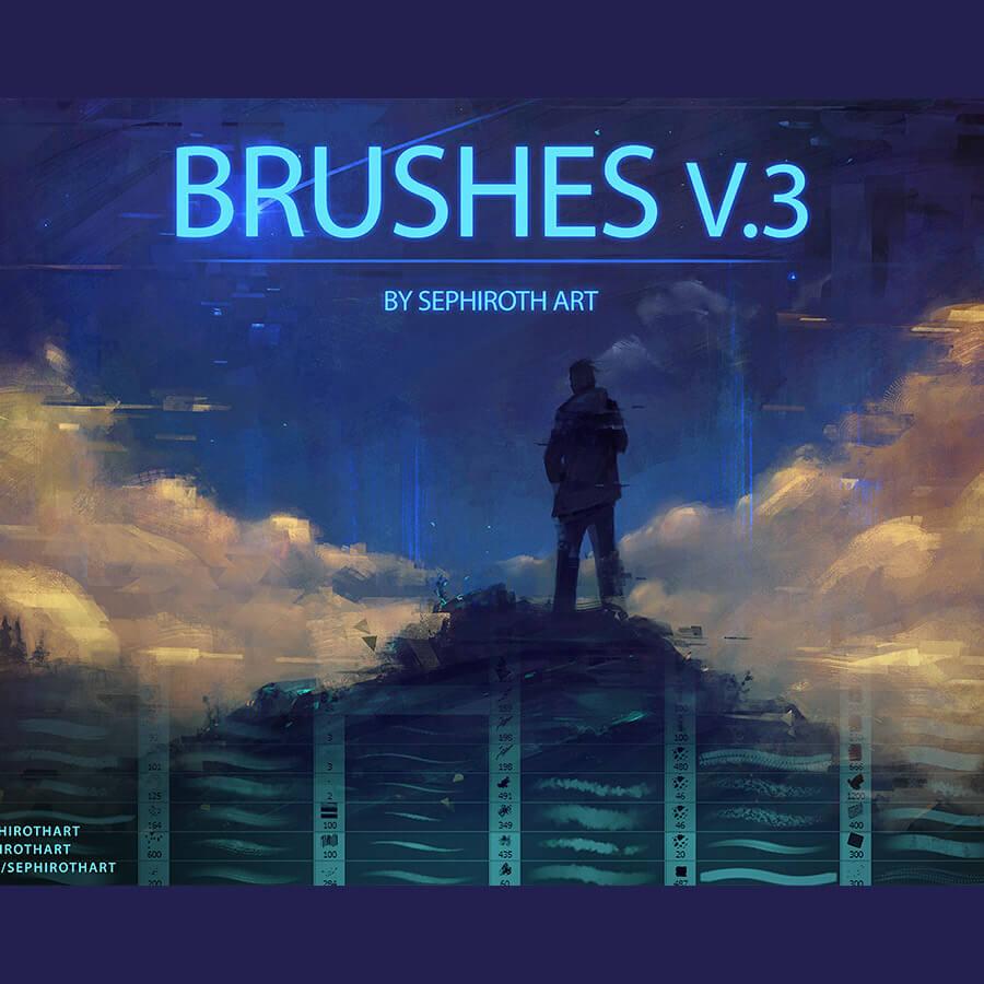 292种绘画常用笔刷套装PS素材下载(超大!) 绘画笔刷 懒人笔刷包 CG笔刷  photoshop brush