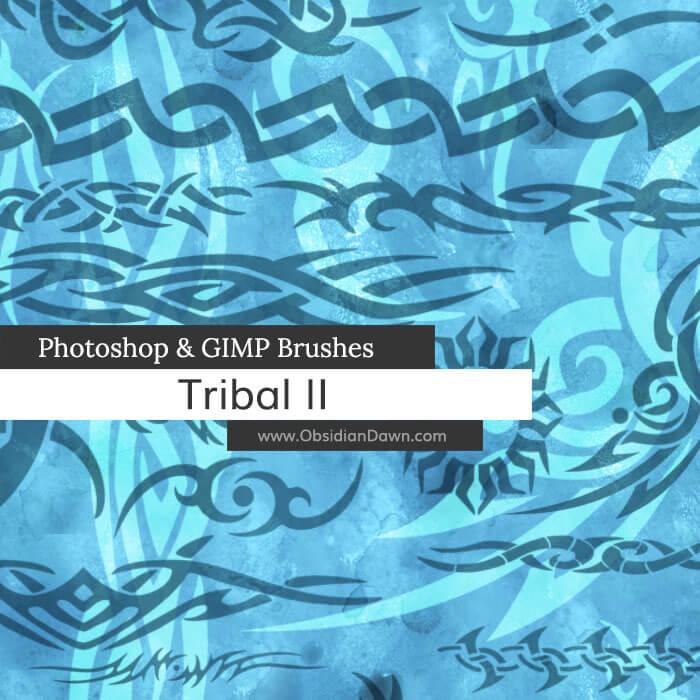 手绘刺青、纹饰、纹身装饰图案Photoshop笔刷素材下载