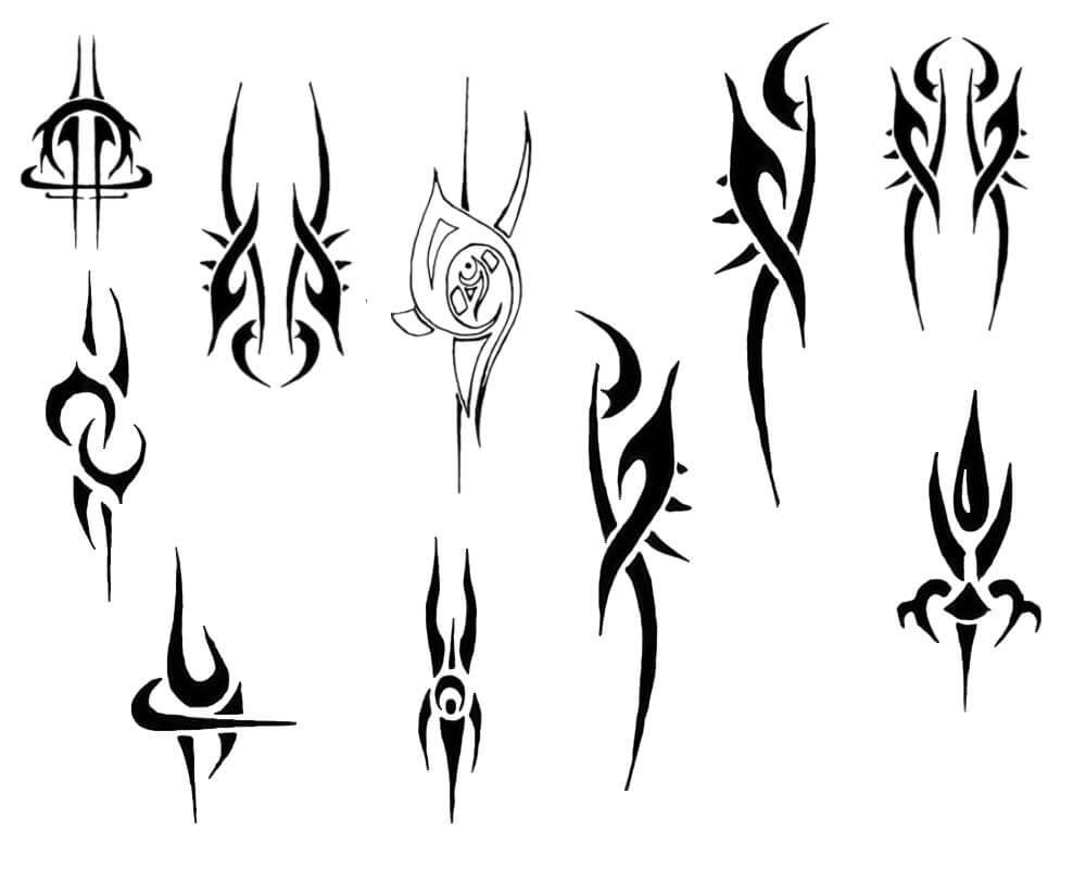 火焰纹饰徽章图形Photoshop笔刷素材下载 火焰纹饰笔刷 火焰徽章笔刷  adornment brushes