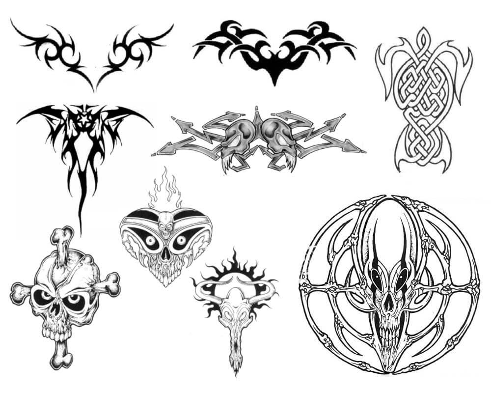 超酷欧美式纹饰、纹身、刺青图案Photoshop笔刷素材下载 纹饰笔刷 纹身笔刷 刺青笔刷  adornment brushes