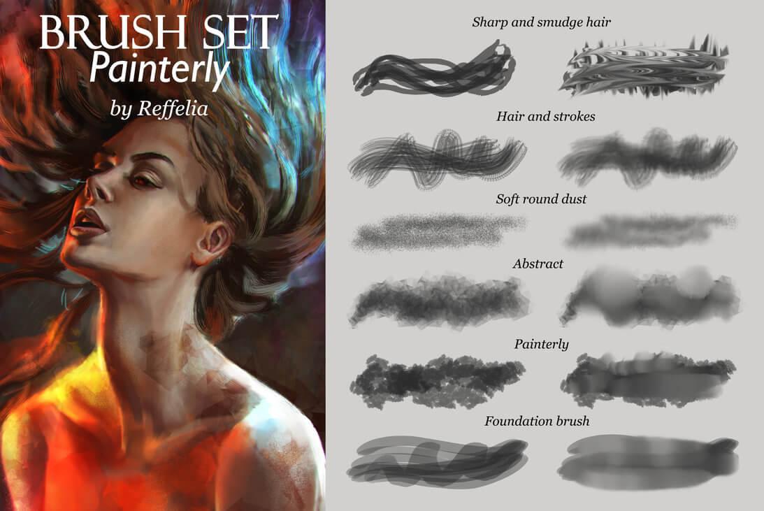 高级绘画、插画套装Photoshop笔刷素材下载