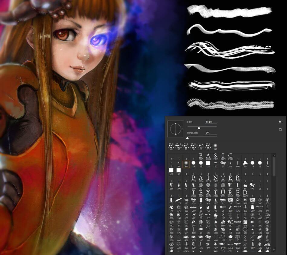 一套懒人专用的CG绘画笔刷套装下载PS笔刷下载