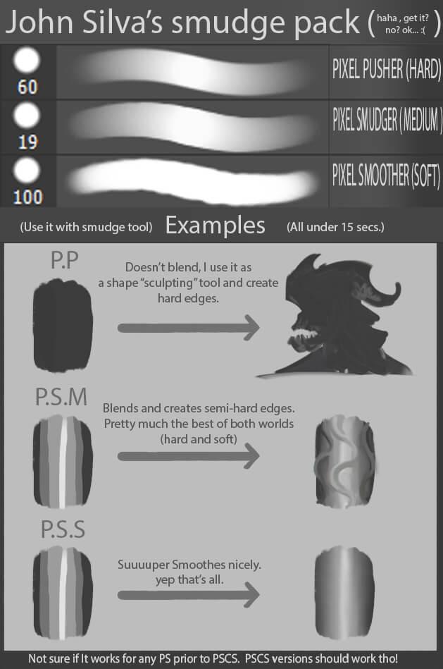 一套简单的手绘CG笔刷套装PS笔刷素材下载 绘画笔刷 CG笔刷  photoshop brush