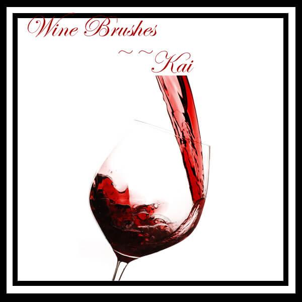 葡萄酒酒杯、玻璃杯、高脚杯PS杯子笔刷素材下载