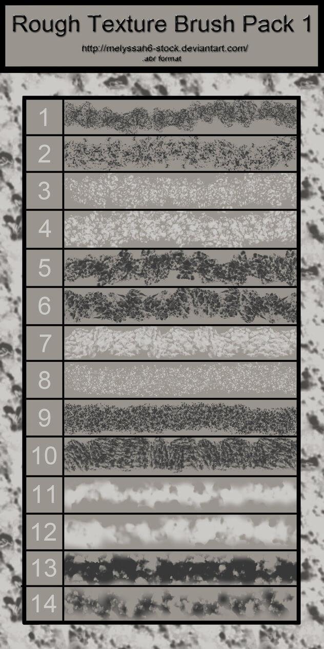 粗糙颗粒、岩石纹理图形Photoshop材质纹理笔刷