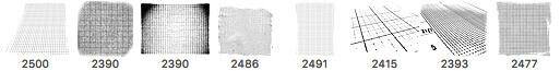 8种线框纹理、图纸方格布纹理PS笔刷素材下载