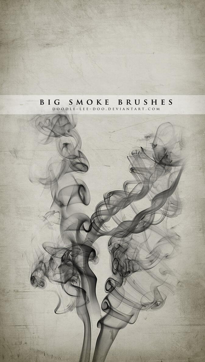 大烟雾效果Photoshop烟雾笔刷素材