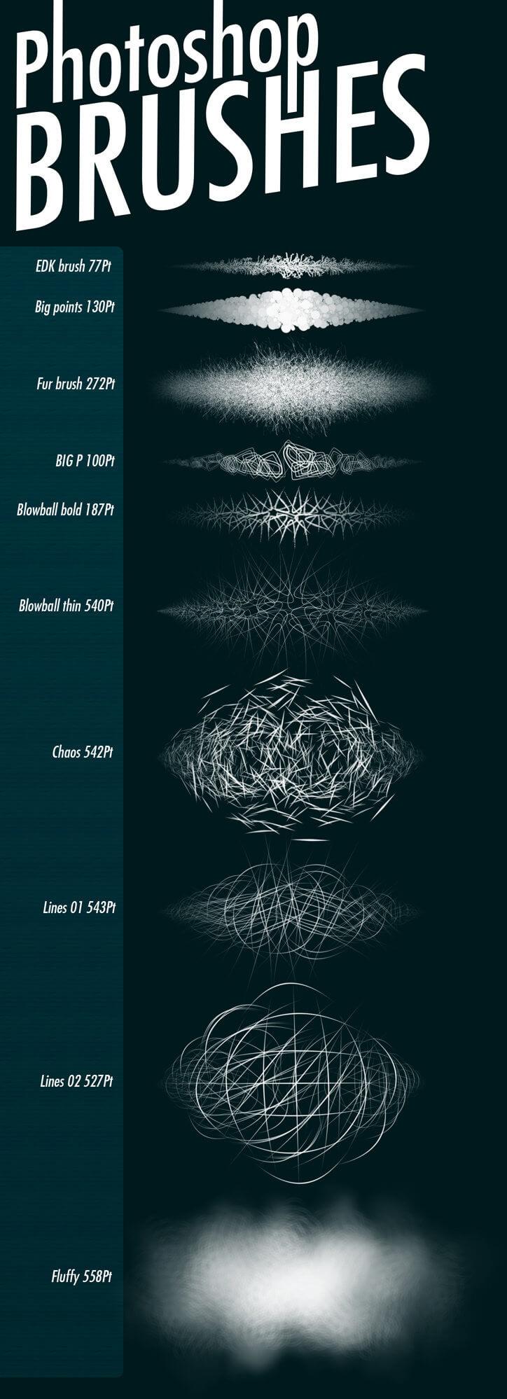 10种高清纹理效果PS笔刷素材下载 纹理笔刷 材质笔刷  background brushes