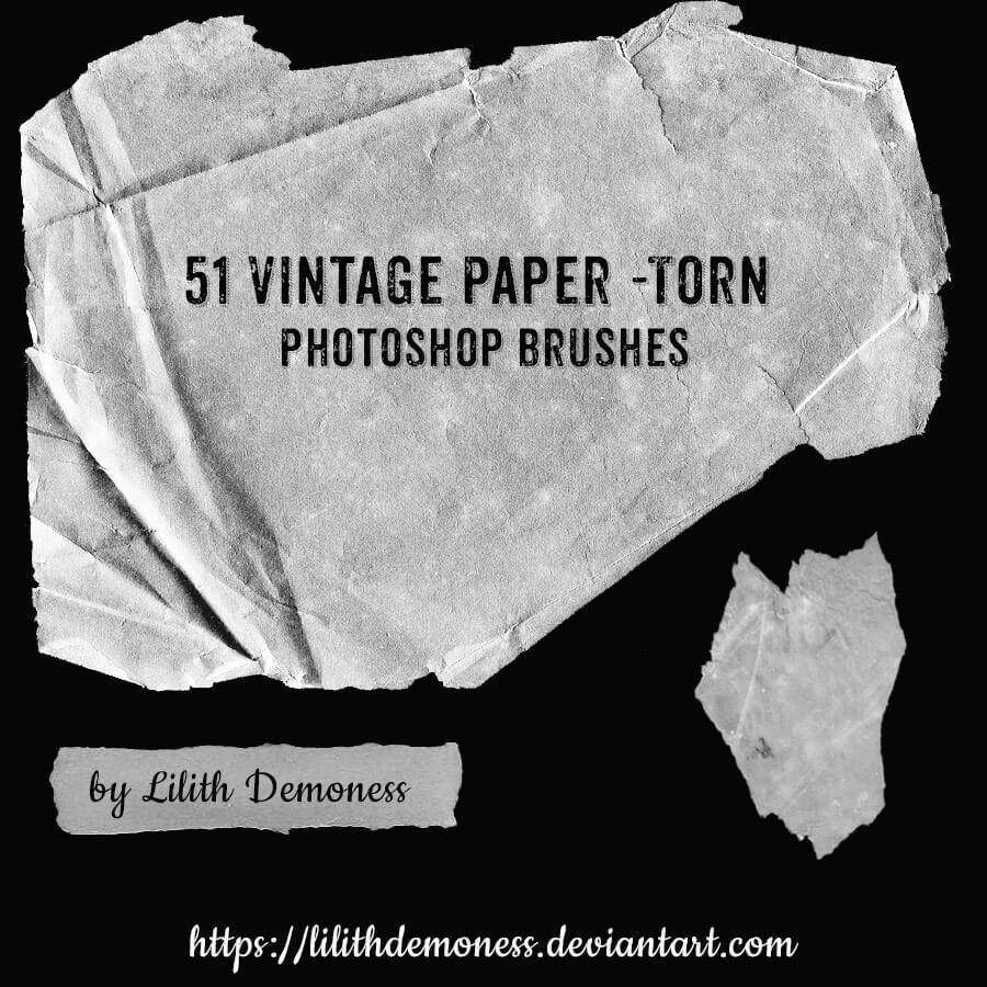 51羊皮纸纹理、旧纸张材质、发黄的白纸背景PS笔刷素材