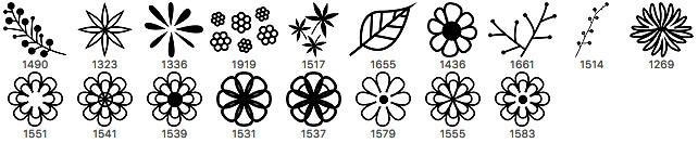 18种漂亮的手写印花图案、小清新卡通花纹PS笔刷素材下载 花朵花纹笔刷 印花笔刷  flowers brushes