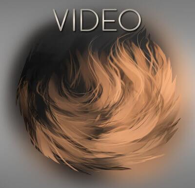 皮毛纹理效果Photoshop绒毛材质笔刷素材