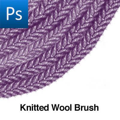 简单的针织羊毛纹理图案PS笔刷素材