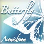 漂亮的蝴蝶剪影图案Photoshop笔刷素材下载