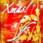 圣诞节花瓣、植物印花图案装饰Photoshop笔刷素材下载